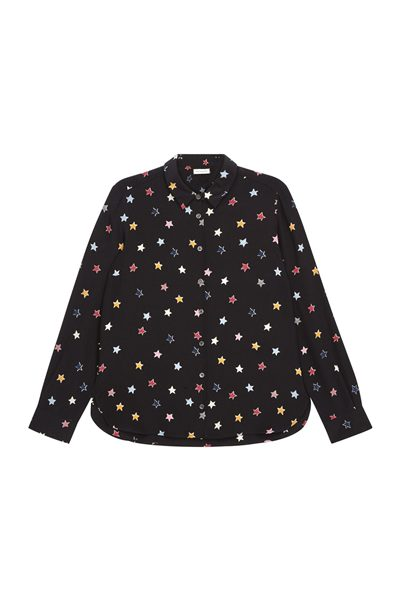 CHINTI & PARKER BLACK STAR CLASSIC SHIRT BLACK Was: £295.00 Now: £148.00