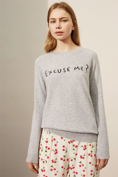 CHINTI & PARKER EXCUSE ME CASHMERE SWEATER MARL BLACK Was: £280.00 Now: £138.00
