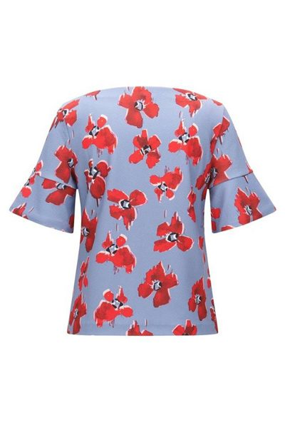 HUGO BY HUGO BOSS BLURRED FLORAL PRINT BLOUSE OPEN Was: £119.00 Now: £20.00