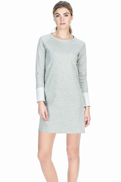 LILLA P REVERSIBLE JERSEY DRESS GREY Was: £176.00 Now: £50.00