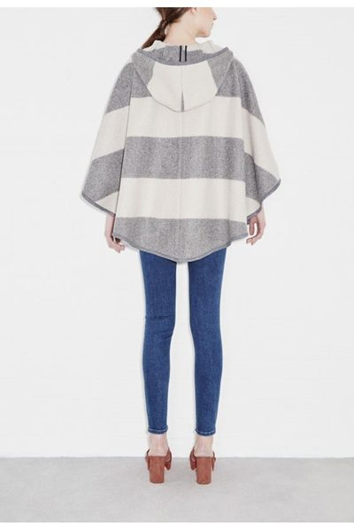 M.i.h JEANS Honor Cape OATMEAL GREY Was: £425.00 Now: £50.00
