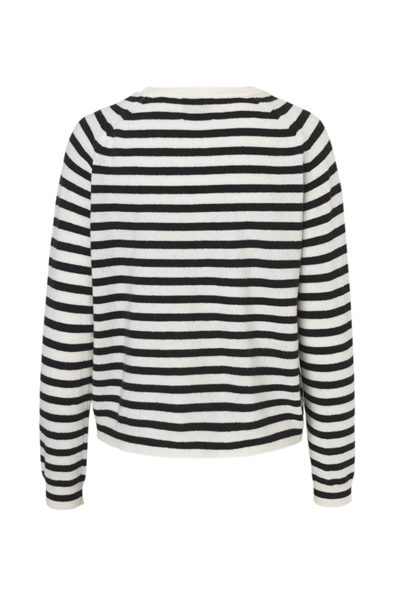 MADS NORGAARD COSY STRIPE KAXA KNIT BLACK Was: £116.00 Now: £50.00