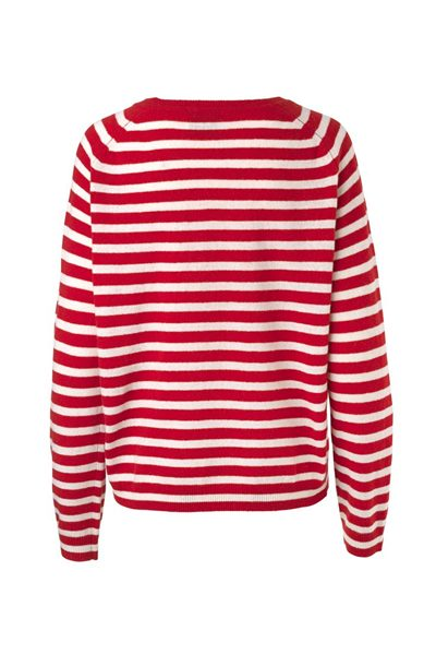 MADS NORGAARD COSY STRIPE KAXA KNIT RED Was: £116.00 Now: £50.00