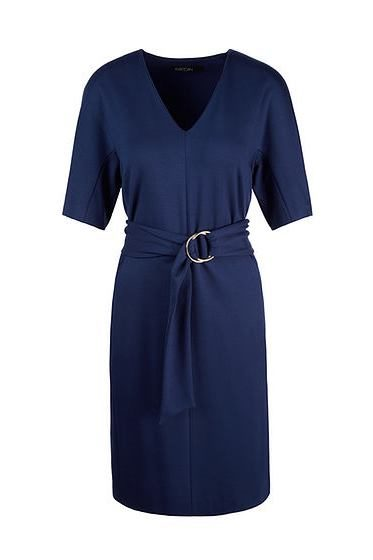 MARC CAIN BELTED DRESS 374 NAVY Was: £225.00 Now: £127.00