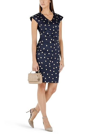 MARC CAIN TECHNO SATIN DRESS 374 NAVY Was: £269.00 Now: £50.00