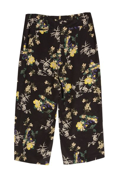 MAX MARA WEEKEND PRINTED SILK CULOTTES NAVY Was: £254.00 Now: £50.00