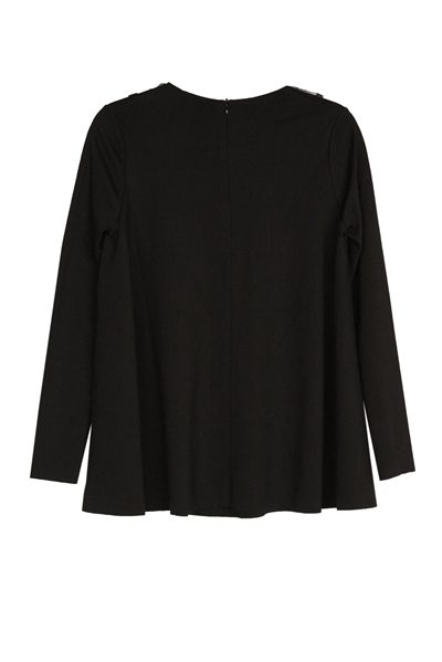 RED VALENTINO FRONT DETAILING KNITWEAR BLACK Was: £295.00 Now: £50.00