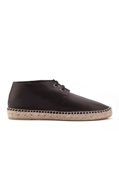 ROBERT CLERGERIE Eloise Espadrille Leather Bootie BLACK Was: £267.00 Now: £100.00