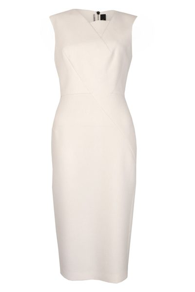 ROLAND MOURET CHESSON DRESS 1001 WHITE Was: £1,250.00 Now: £625.00