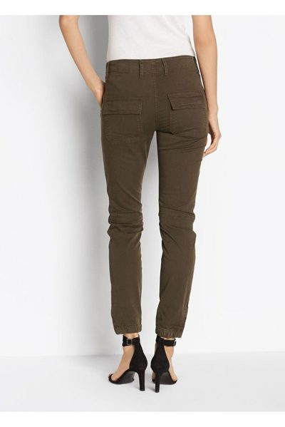 VINCE ANKLE ZIP UTILITY TROUSER DARK WILLOW Was: £311.00 Now: £50.00