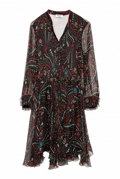 ZADIG & VOLTAIRE RANIL PSYCHE DRESS PRINT Was: £450.00 Now: £100.00
