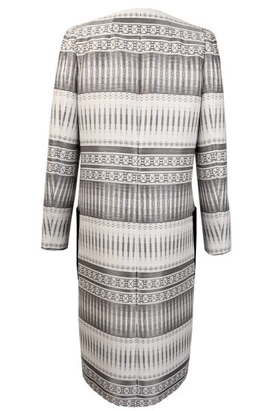 AMANDA WAKELEY TAPIS JACQUARD COAT WHITE BLACK Was: £895.00 Now: £447.00