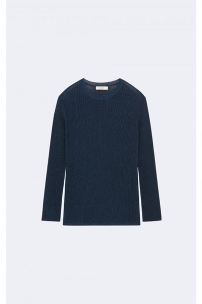 BA&SH LIGHTWEIGHT KNIT BLUE Was: £149.00 Now: £50.00