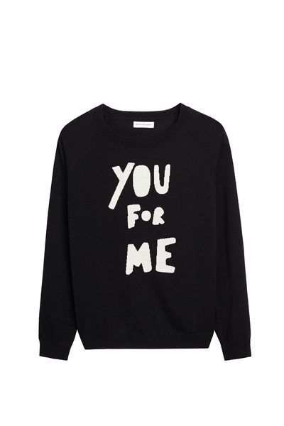 CHINTI & PARKER ME FOR YOU MERINO SWEATER BLACK CREAM Was: £280.00 Now: £140.00