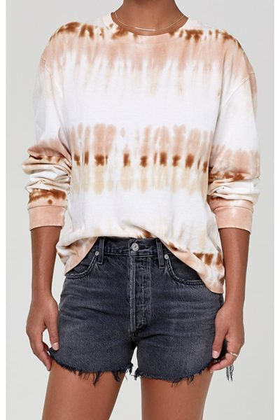 CITIZENS OF HUMANITY OVERSIZED TIE DYE T-SHIRT CHAI £160.00