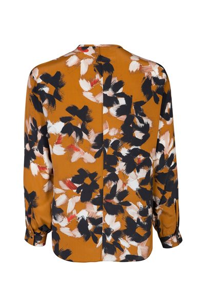 DOROTHEE SCHUMACHER FLORAL GRAPHICS BLOUSE CARAMEL FLOWERS Was: £325.00 Now: £162.00