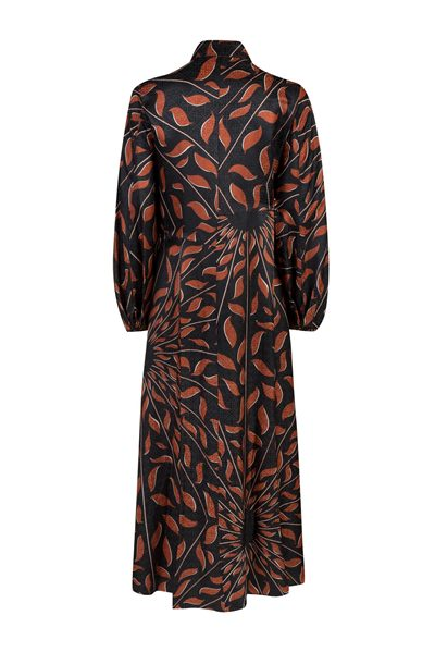 DOROTHEE SCHUMACHER GRAPHIC RAY DRESS BROWN BLACK Was: £645.00 Now: £325.00