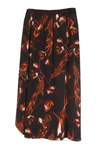 DOROTHEE SCHUMACHER PRINT LEOPARD SKIRT NAVY BLOOM Was: £371.00 Now: £185.00