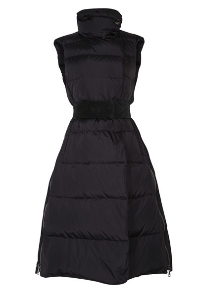 DOROTHEE SCHUMACHER SLEEK SLEEVELESS COAT PURE BLACK Was: £750.00 Now: £375.00