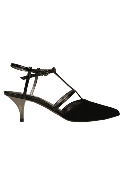 DOROTHEE SCHUMACHER Strapped Seduction Kitten Heel BLACK 999 Was: £372.00 Now: £186.00