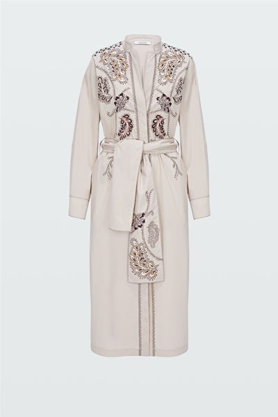 DOROTHEE SCHUMACHER TUNIC DRESS WITH FOIL PRINT GREY SAND Was: £550.00 Now: £250.00
