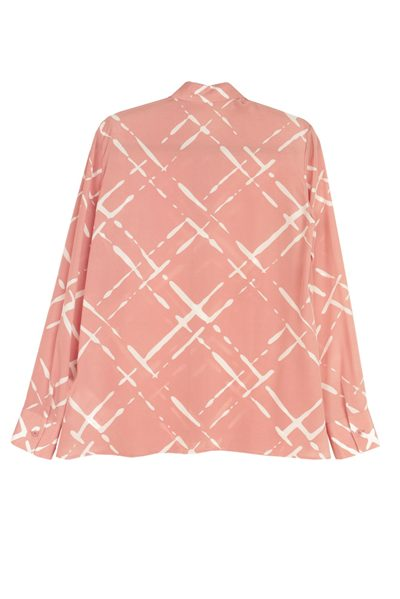 ESCADA CHECK PRINT SHIRT ROSE Was: £390.00 Now: £195.00