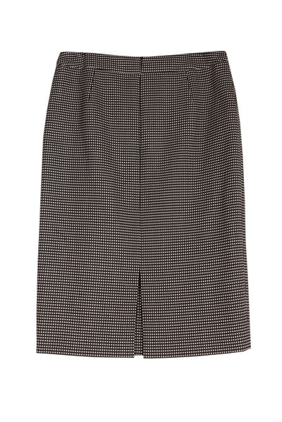 ESCADA GINGHAM PRINT PENCIL SKIRT BLACK WHITE Was: £235.00 Now: £118.00