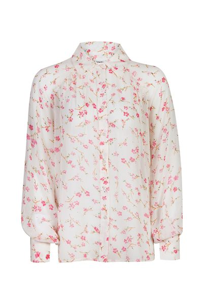 Off White Floral Oversized Blouse Fluidity F2