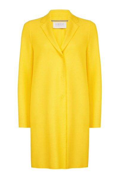 HARRIS WHARF Pressed Wool Cocoon Coat PINEAPPLE