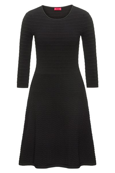 HUGO BY HUGO BOSS CREW NECK KNITTED DRESS BLACK Was: £210.00 Now: £105.00