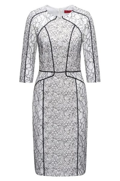 HUGO BY HUGO BOSS PATCHED LACE DRESS OPEN Was: £330.00 Now: £165.00