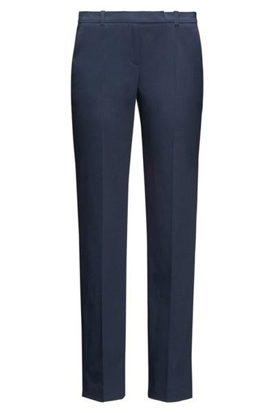 HUGO BY HUGO BOSS STRETCH COTTON TROUSERS NAVY Was: £149.00 Now: £74.00