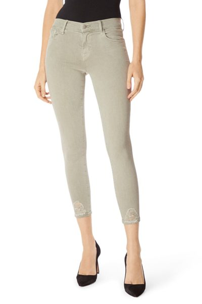 J BRAND 835 Mid-Rise Cropped Skinny In Photo Ready Faded Gibson Destruct FADED GIBSON £265.00