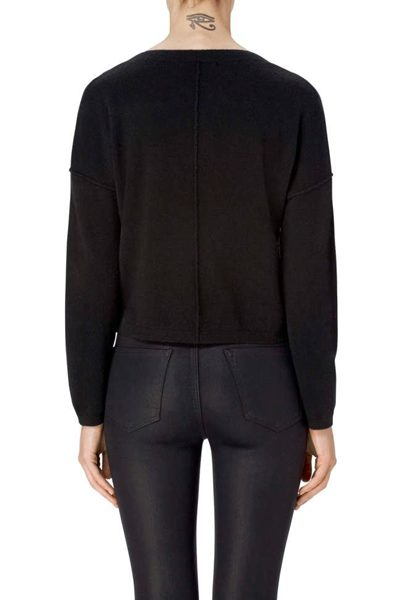 J BRAND JOSEY CROPPED CASHMERE JUMPER BLACK Was: £256.00 Now: £128.00