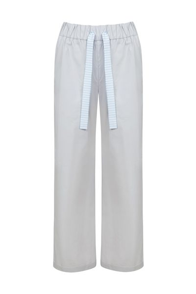 LE TRICOT PERUGIA Stripe Detail Trousers GREY £272.00