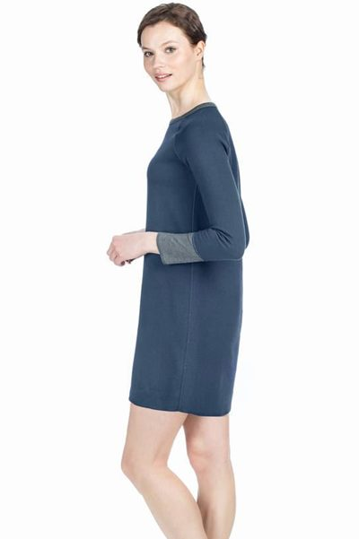 LILLA P REVERSIBLE JERSEY DRESS NAVY Was: £176.00 Now: £88.00