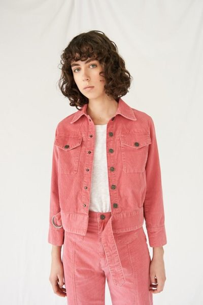 M.i.h JEANS Paradise Cord Jacket PINK £245.00