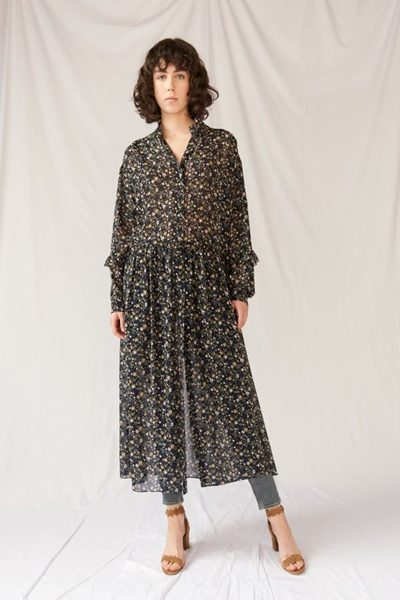 M.i.h JEANS SILK MAXI DRESS VINE LEAF £425.00
