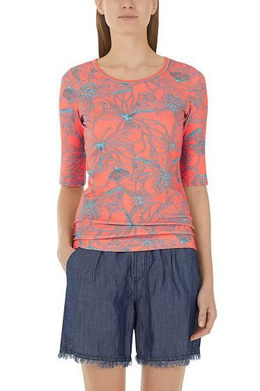 MARC CAIN BUTTERFLY PRINT TOP CORAL 468 Was: £109.00 Now: £50.00