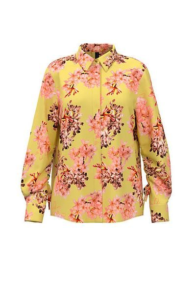 MARC CAIN Floral blouse in viscose and silk BUTTER £255.00