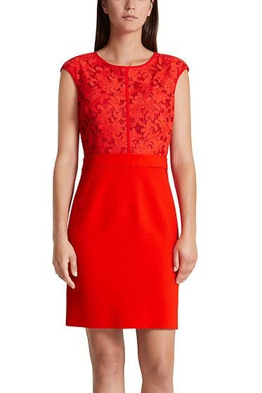 MARC CAIN LACE DRESS RED Was: £345.00 Now: £172.00