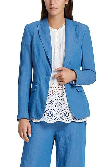 MARC CAIN LINEN BLEND BLAZER BLUE Was: £315.00 Now: £158.00
