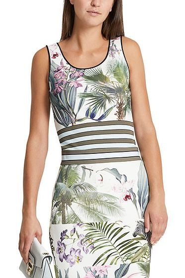 MARC CAIN MIXED PRINT VEST PATTERN Was: £225.00 Now: £112.00