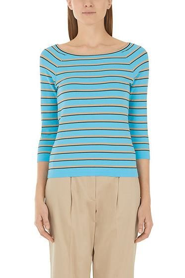 MARC CAIN STRIPE KNIT PULLOVER BLUE 336 Was: £169.00 Now: £50.00