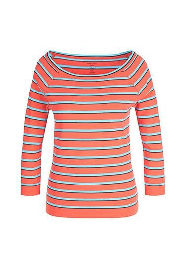 MARC CAIN STRIPE KNIT PULLOVER CORAL 468 Was: £169.00 Now: £50.00