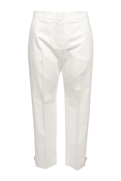 MAX MARA MAIN COTTON SATIN TROUSER IVORY Was: £288.00 Now: £144.00