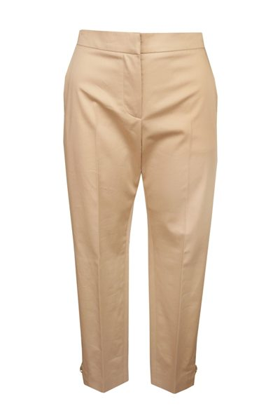 MAX MARA MAIN COTTON SATIN TROUSER SAND Was: £288.00 Now: £144.00