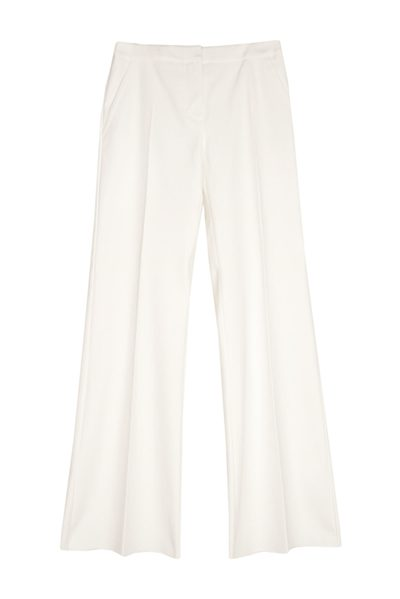 MAX MARA MAIN COTTON TROUSER WHITE Was: £264.00 Now: £132.00