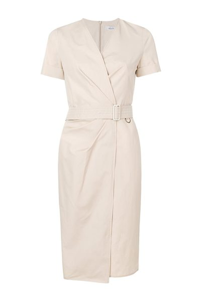 MAX MARA MAIN DALMINE WRAP DRESS SAND Was: £380.00 Now: £190.00