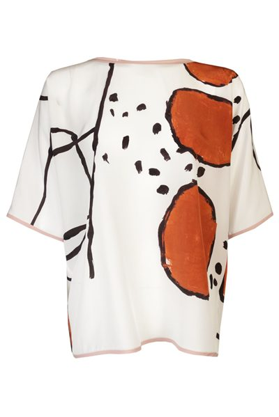 MAX MARA MAIN KASSEL BLOUSE STONE Was: £318.00 Now: £159.00